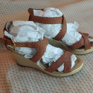 Sperry braided leather espadrillde